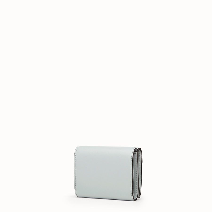 FENDI MICRO TRIFOLD - Gray leather wallet - view 2 detail