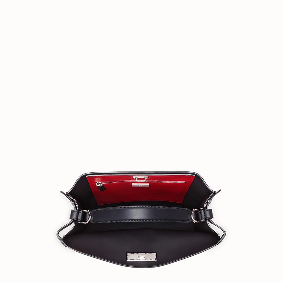 FENDI PEEKABOO X-LITE FIT - Black, calf leather bag - view 5 detail