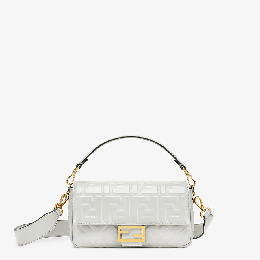 FENDI BAGUETTE - White leather bag - view 1 detail