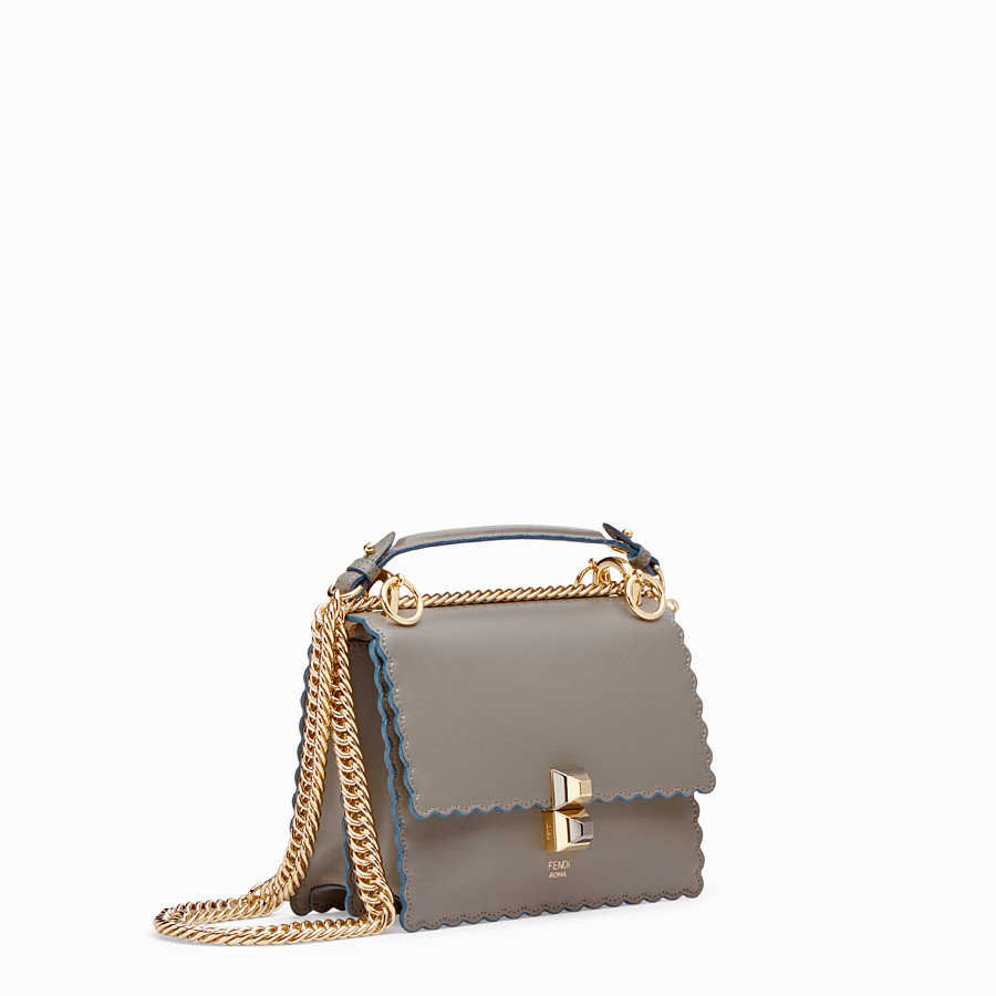 FENDI KAN I SMALL - Mini sac en cuir gris - view 2 detail