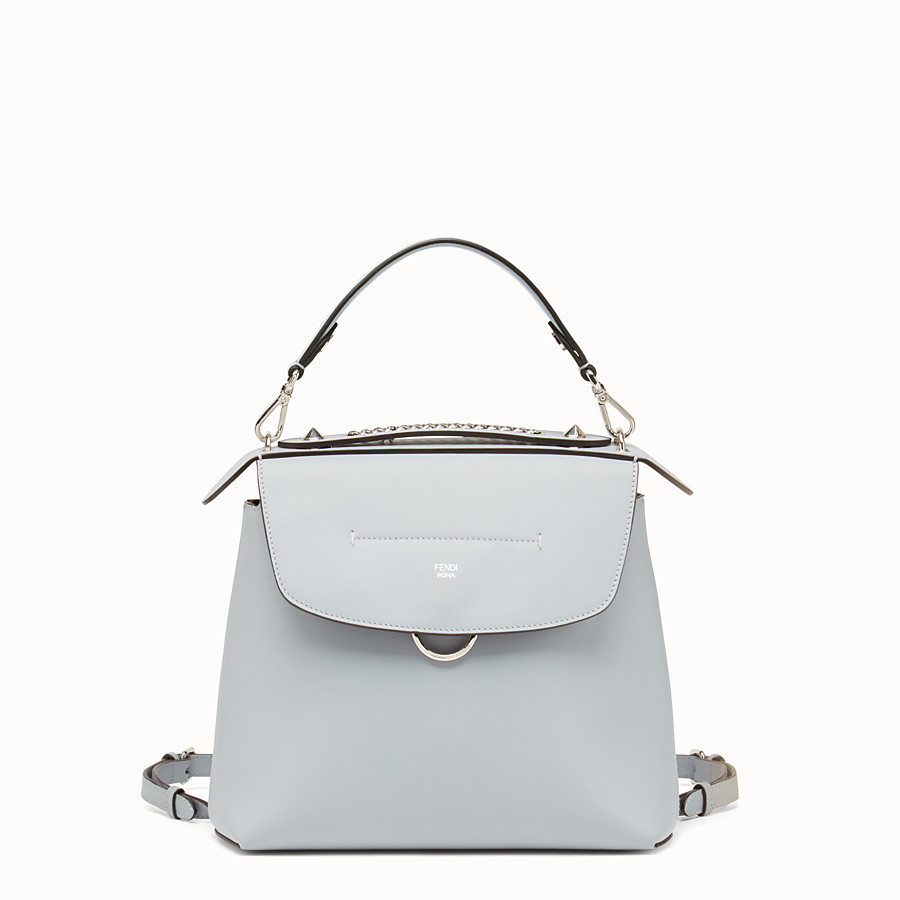 FENDI BACK TO SCHOOL BACKPACK - Smooth light blue leather backpack - view 1 detail