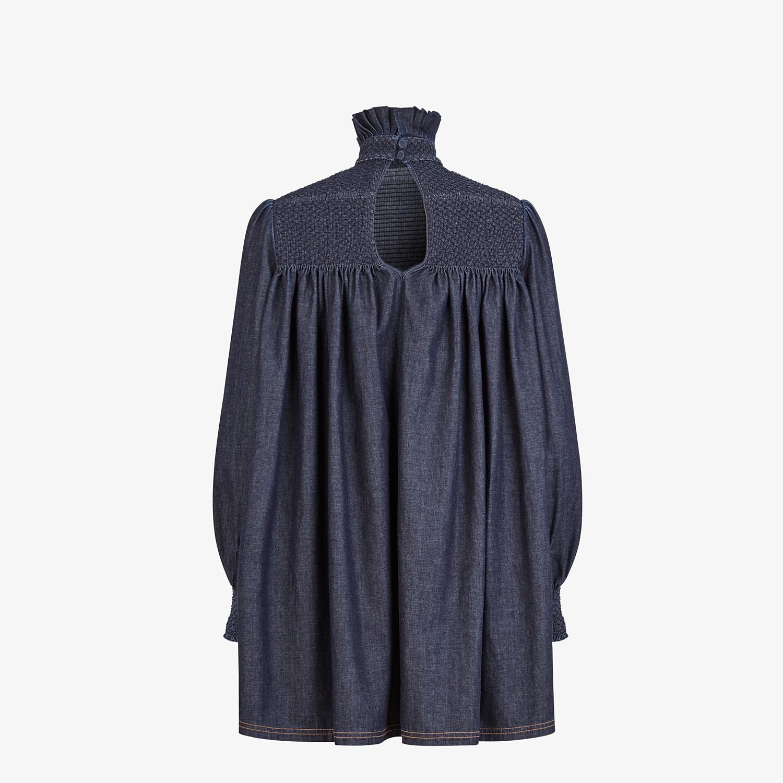 FENDI DRESS - Blue chambray dress - view 2 detail