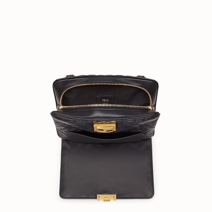 FENDI UPSIDE DOWN - Black leather bag - view 4 detail