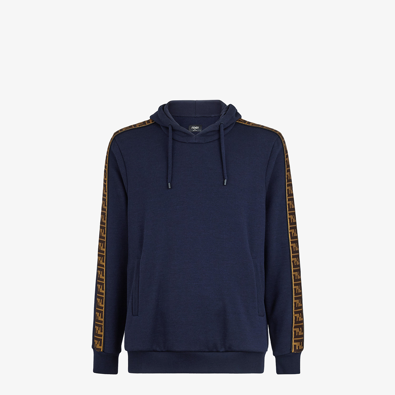 FENDI SWEATSHIRT - Blue wool and cotton sweatshirt - view 1 detail