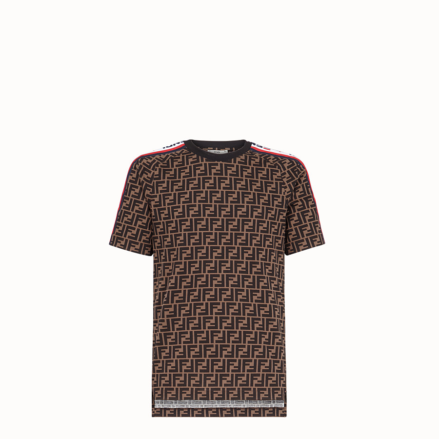 FENDI T-SHIRT - Unisex t-shirt in multicoloured jersey - view 1 detail