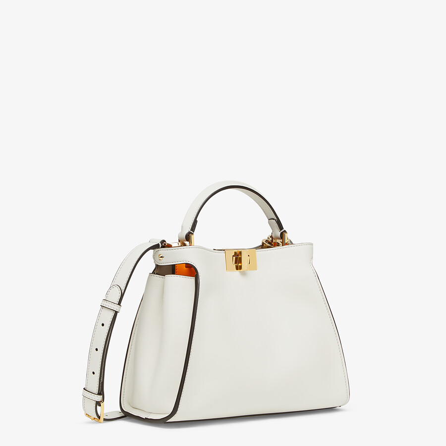 FENDI PEEKABOO ICONIC ESSENTIALLY - White leather bag - view 2 detail