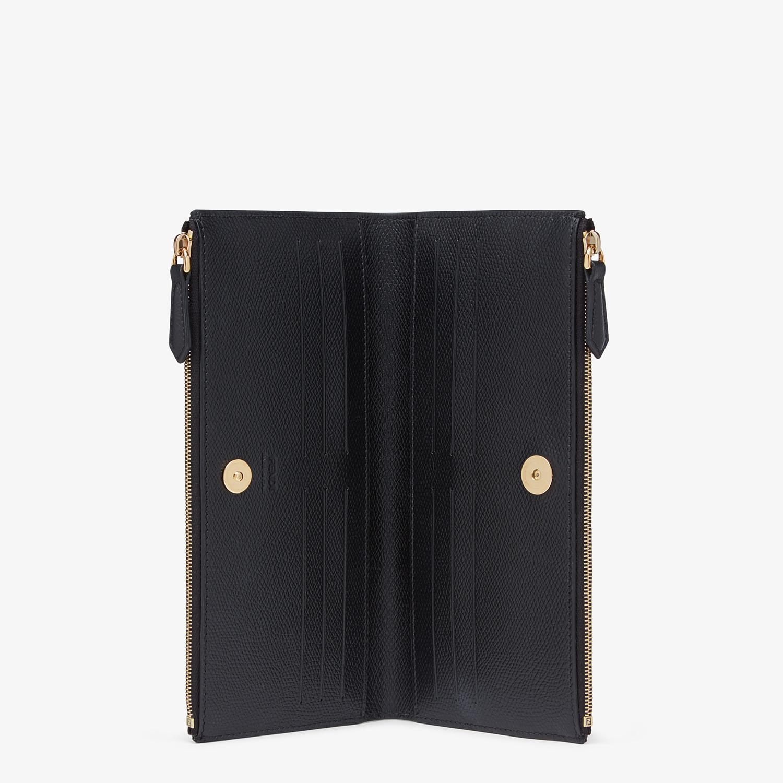 FENDI BIFOLD - Black leather wallet - view 3 detail