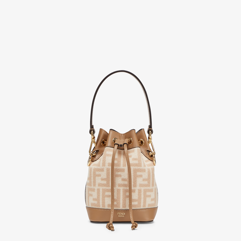 FENDI MON TRESOR - FF beige wool mini-bag - view 1 detail