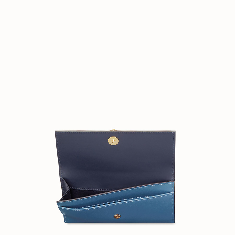 FENDI CONTINENTAL MEDIUM - Blue leather wallet - view 4 detail