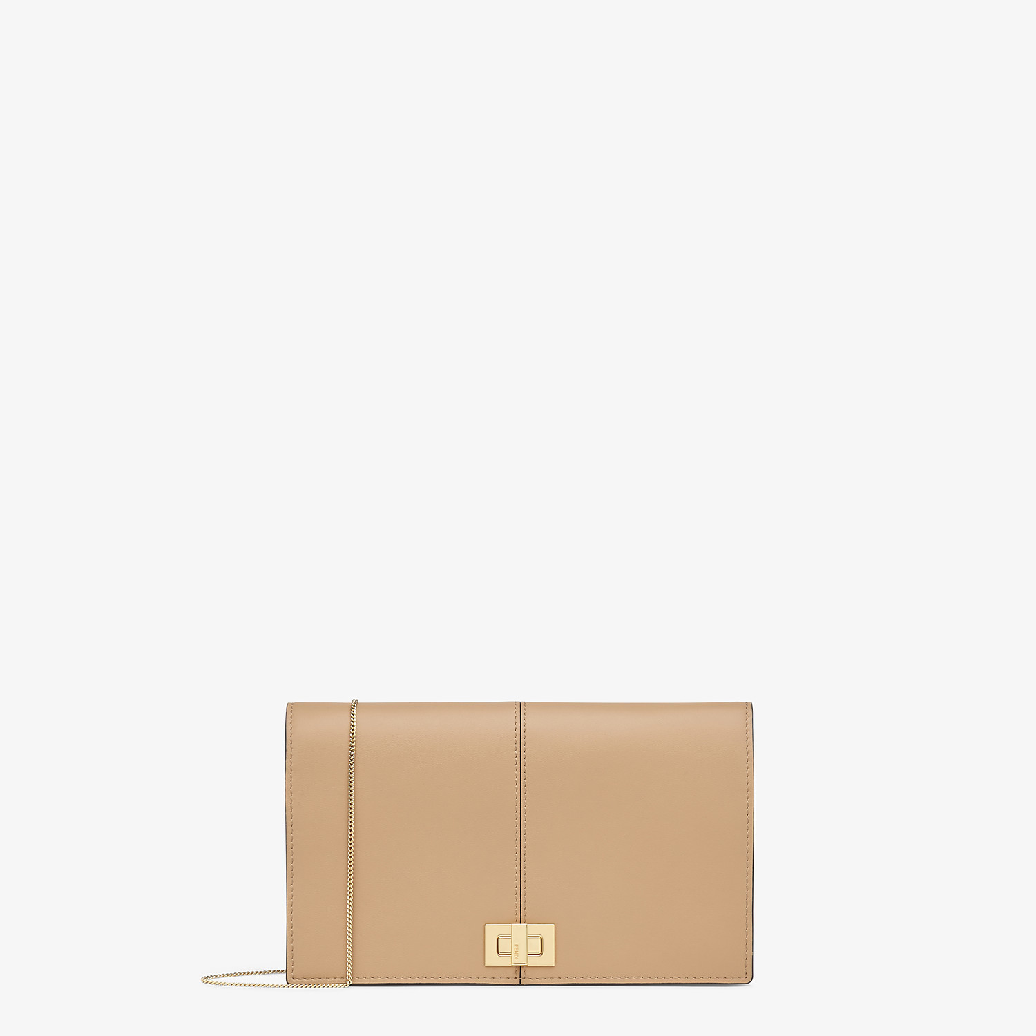 FENDI WALLET ON CHAIN - Brown leather minibag - view 1 detail