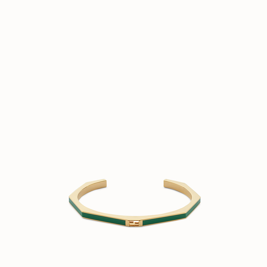 FENDI BAGUETTE BRACELET - Polished green Baguette bangle - view 1 detail