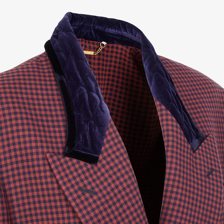 FENDI JACKET - Check wool blazer - view 3 detail