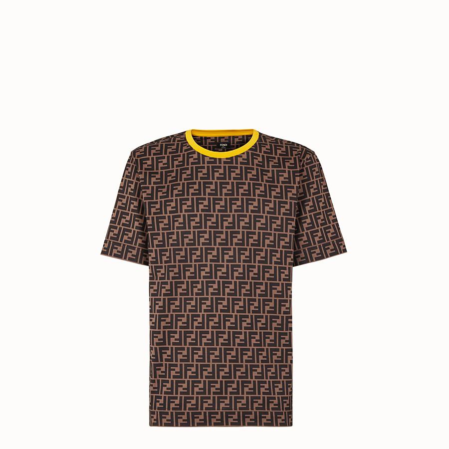 FENDI T-SHIRT - T-Shirt aus Baumwolle in Braun - view 1 detail