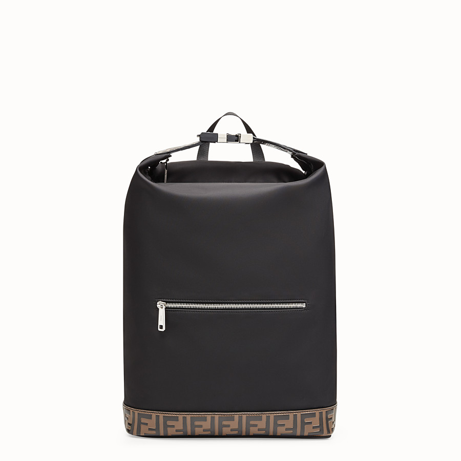 FENDI BACKPACK - Black nylon backpack - view 1 detail