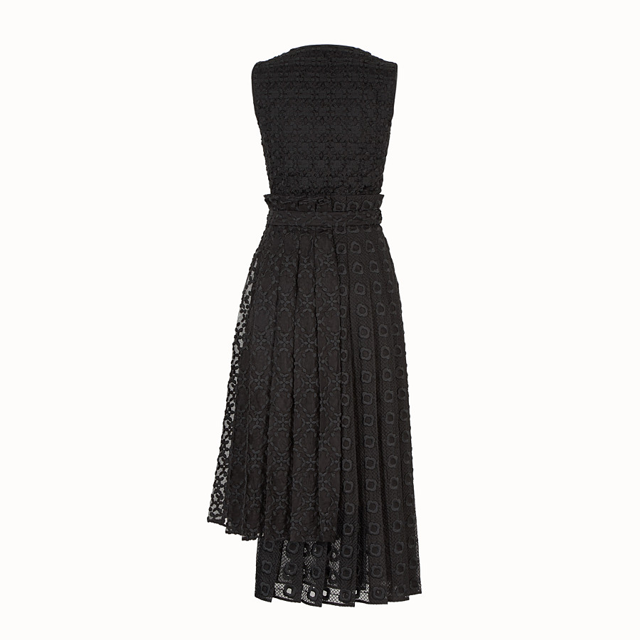 FENDI ドレス - ブラックオーガンザ ドレス - view 2 detail