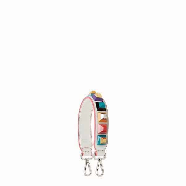 FENDI MINI STRAP YOU - Short shoulder strap in leather with studs - view 1 small thumbnail