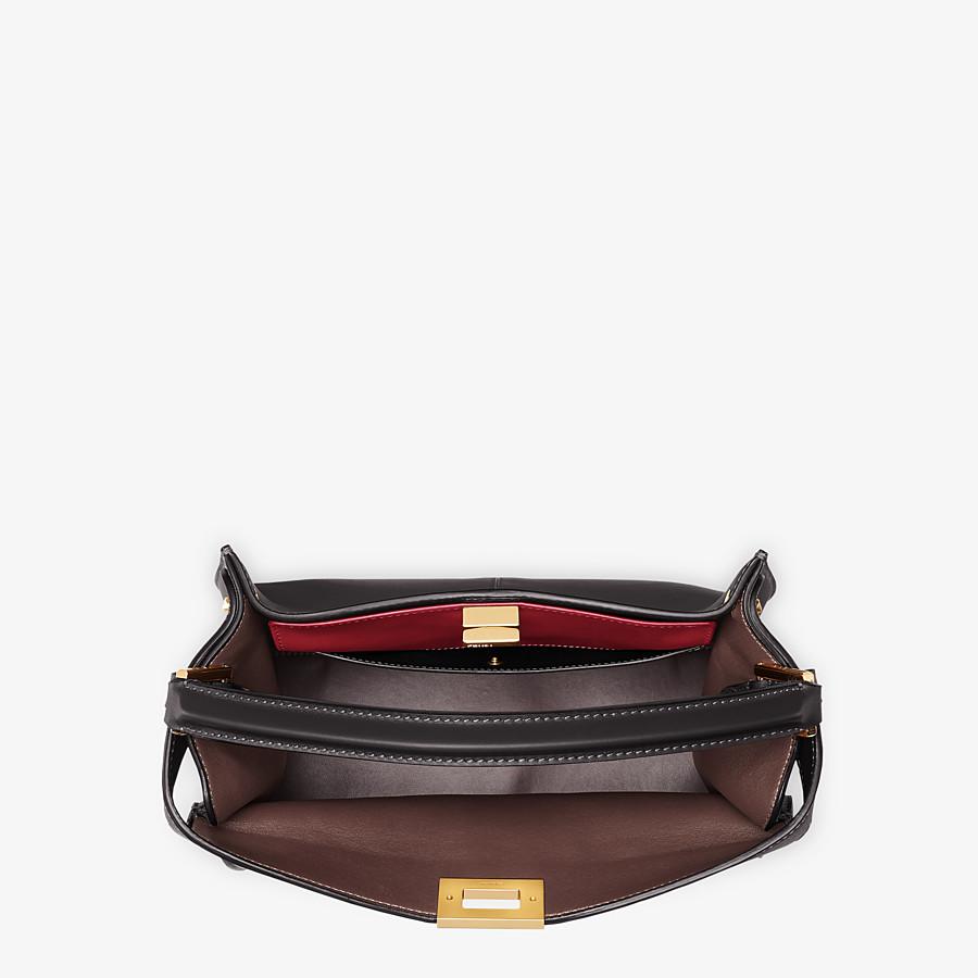 FENDI PEEKABOO X-LITE MEDIUM - Black leather bag - view 5 detail