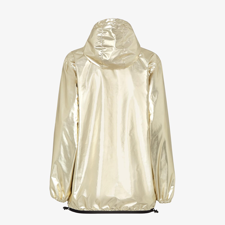 FENDI GIACCA A VENTO - Giacca FENDI x K-Way® in nylon color oro - vista 2 dettaglio