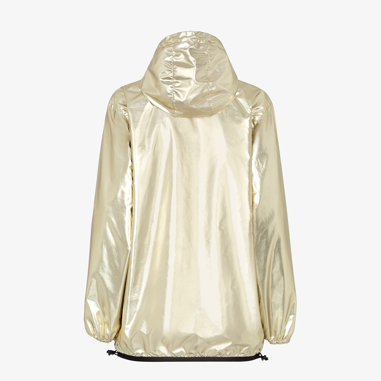 FENDI WINDBREAKER - Gold nylon FENDI x K-Way® jacket - view 2 detail
