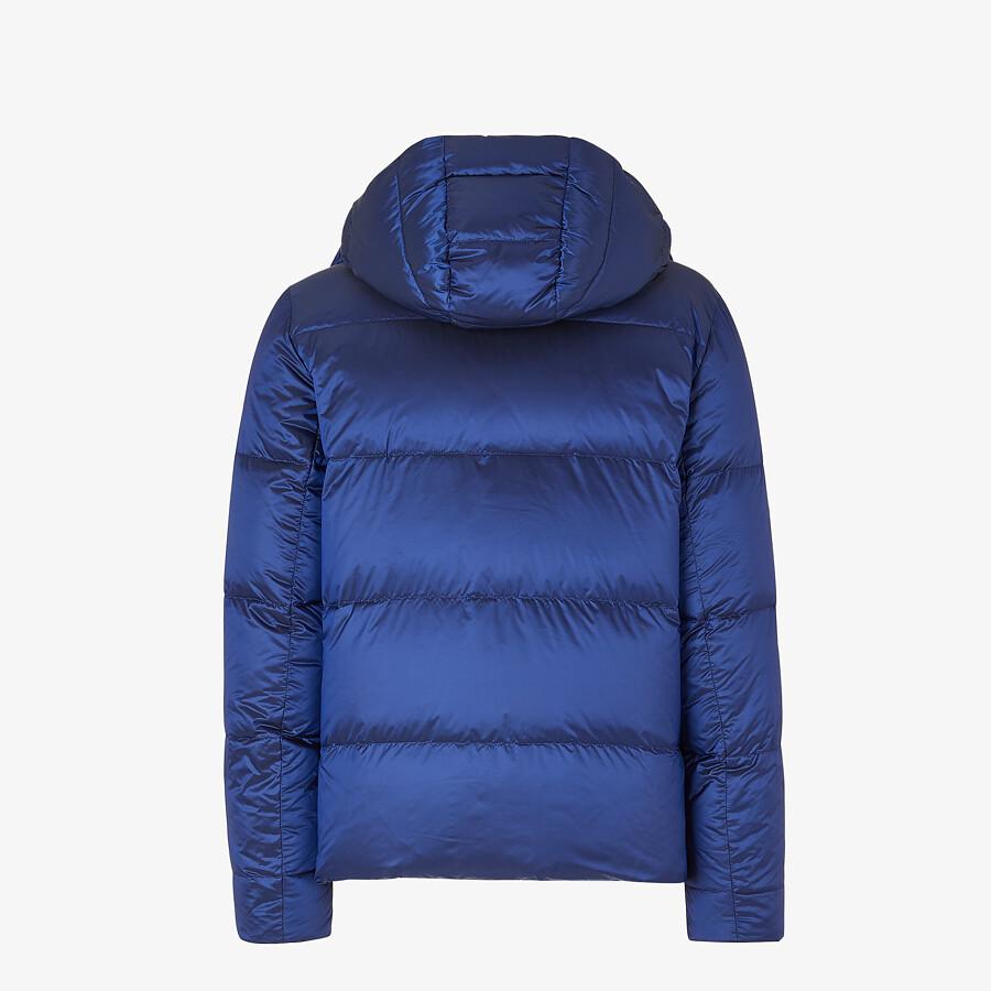 FENDI DOWN JACKET - Blue nylon down jacket - view 2 detail