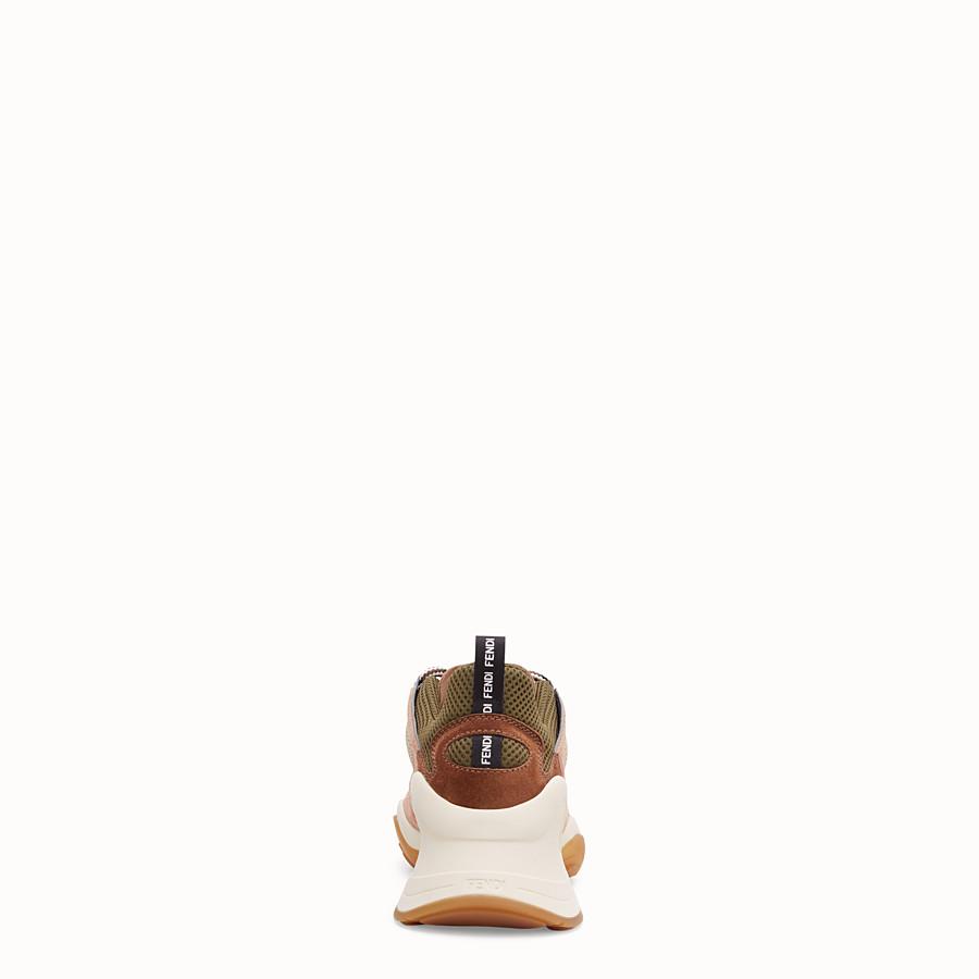 FENDI SNEAKER - Niedriger Sneaker aus Veloursleder in Rosa - view 3 detail