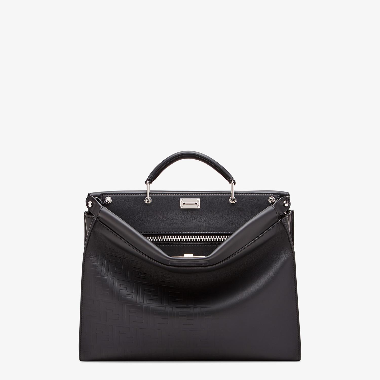 FENDI PEEKABOO ICONIC FIT - Black, calf leather bag - view 1 detail