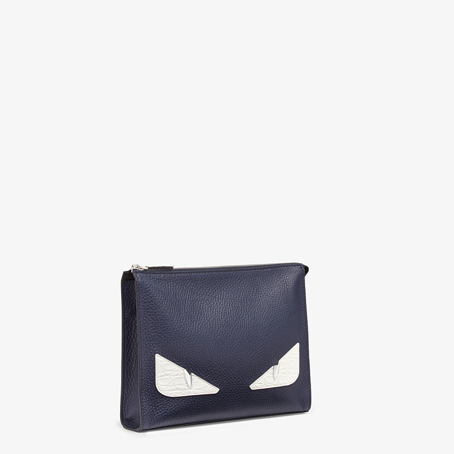 FENDI CLUTCH - Pochette aus Leder in Blau - view 2 detail