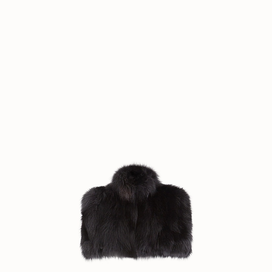 FENDI CAPE - Black fur cape - view 1 detail