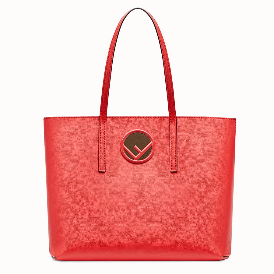 FENDI SHOPPER - Red leather shopper bag - view 1 detail