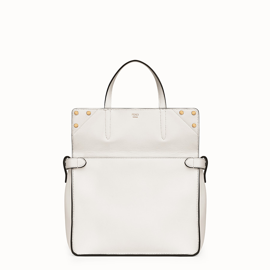 FENDI FENDI FLIP REGULAR - White leather bag - view 2 detail