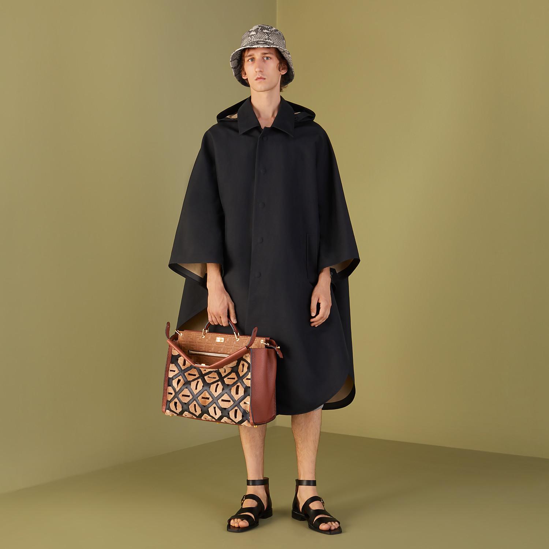 FENDI CLOAK - Black cotton overcoat - view 4 detail