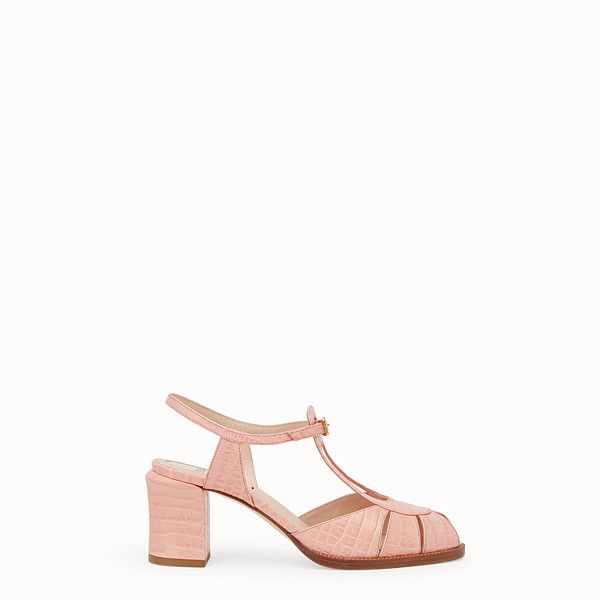 FENDI SANDALS - Pink leather sandals - view 1 small thumbnail