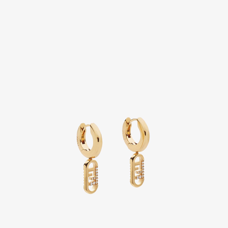 FENDI O'LOCK EARRINGS - Gold-colored earrings - view 1 detail
