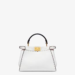 FENDI PEEKABOO ICONIC MINI - White leather bag - view 4 thumbnail