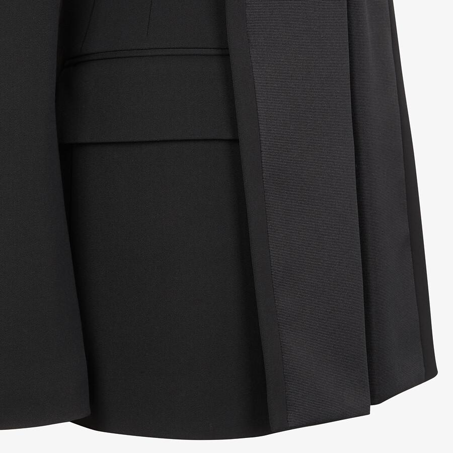 FENDI JACKET - Black grain de poudre jacket - view 3 detail