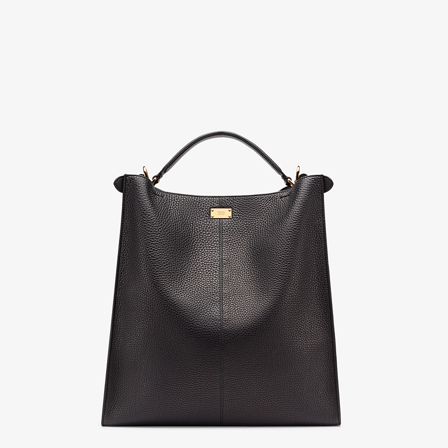 FENDI PEEKABOO X-LITE FIT - Black Romano leather bag - view 4 detail