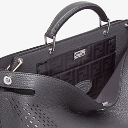 FENDI PEEKABOO ICONIC ESSENTIAL - Grey calf leather bag - view 5 thumbnail