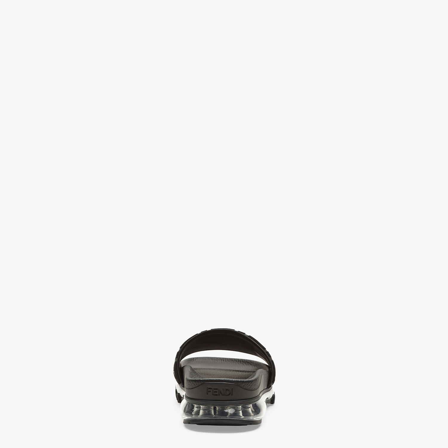 FENDI SANDALS - Fendi slides for Jackson Wang in PU and Lycra® - view 3 detail