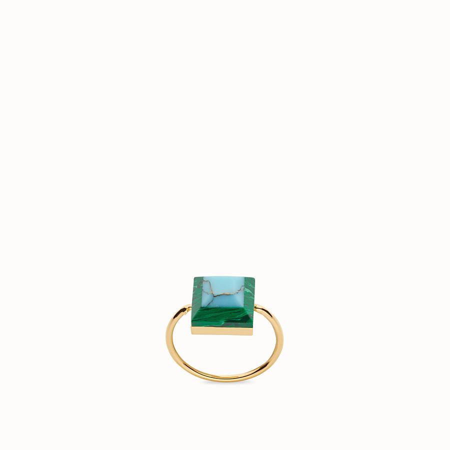 FENDI RAINBOW戒指 - 金屬戒指,裝飾雙色寶石 - view 1 detail