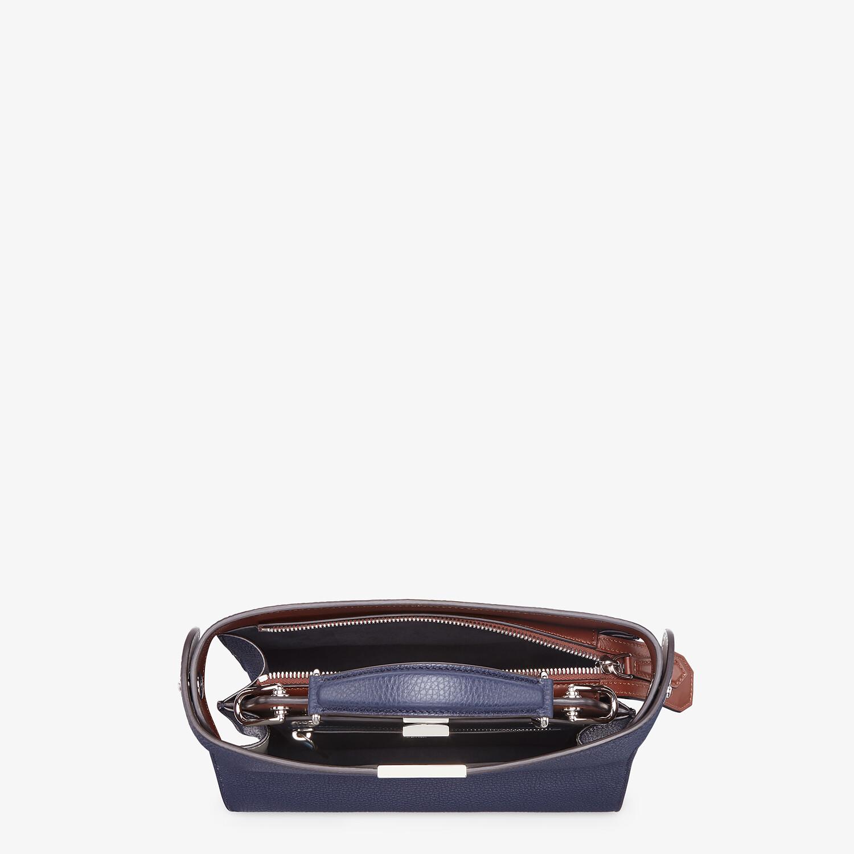 FENDI PEEKABOO ISEEU MINI - Dark blue leather bag - view 5 detail