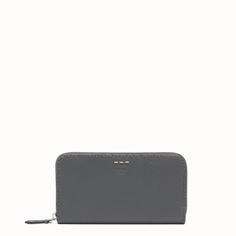 FENDI 二つ折り財布 - グレーレザー 財布 - view 1 detail