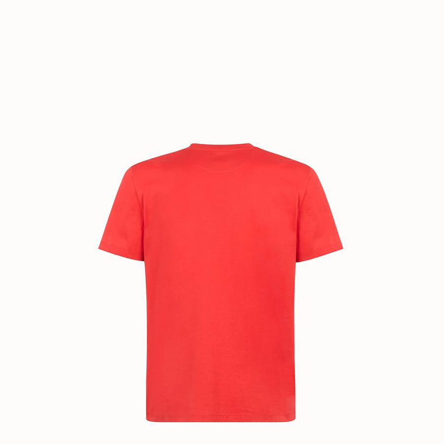 FENDI T-SHIRT - Red cotton jersey T-shirt - view 2 detail