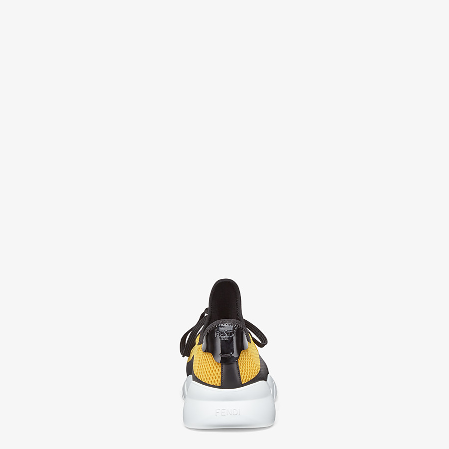 FENDI SNEAKERS - Yellow tech mesh running shoes - view 3 detail
