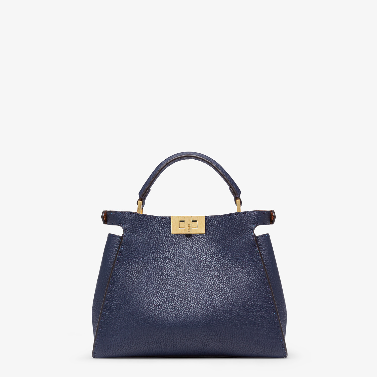 FENDI PEEKABOO ICONIC ESSENTIALLY - Blue leather bag - view 4 detail