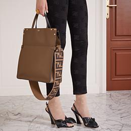 FENDI SANDALS - Black leather sandals - view 5 thumbnail