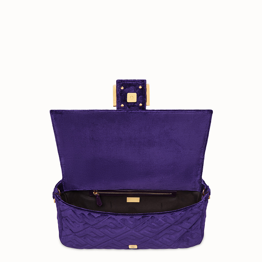 FENDI BAGUETTE LARGE - Purple velvet bag - view 4 detail
