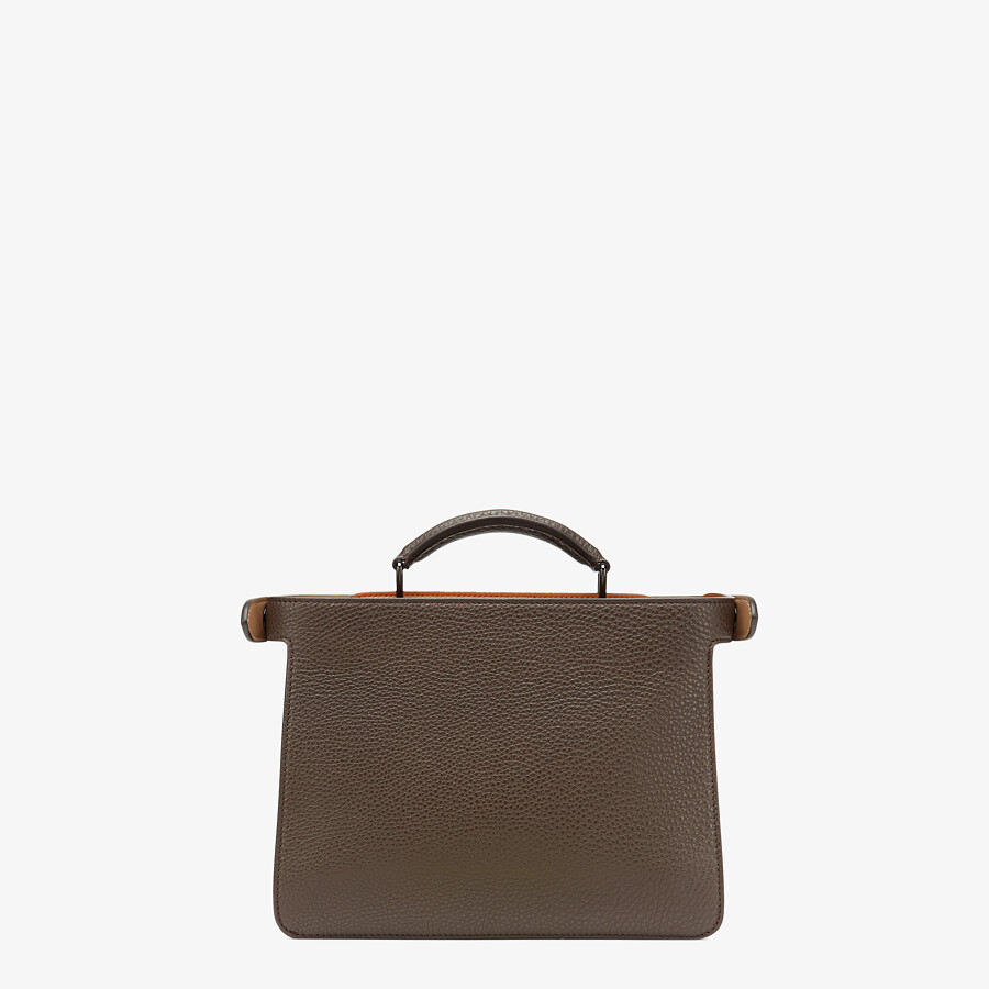 FENDI PEEKABOO ISEEU MINI - Brown leather bag - view 4 detail