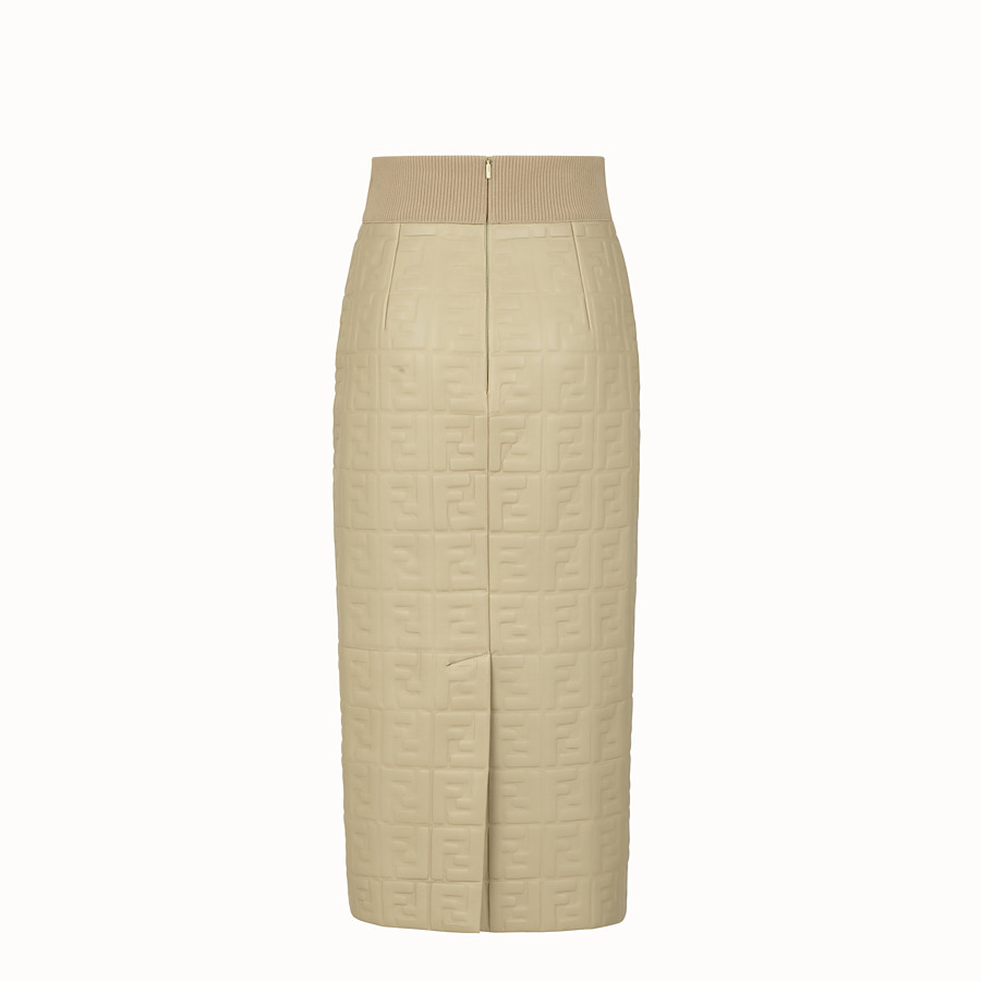 FENDI SKIRT - Green nappa leather skirt - view 2 detail