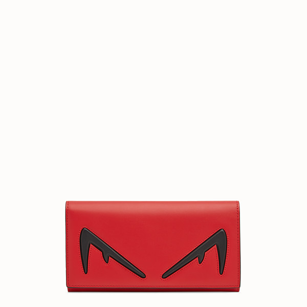 FENDI CONTINENTAL - Red leather wallet - view 1 small thumbnail