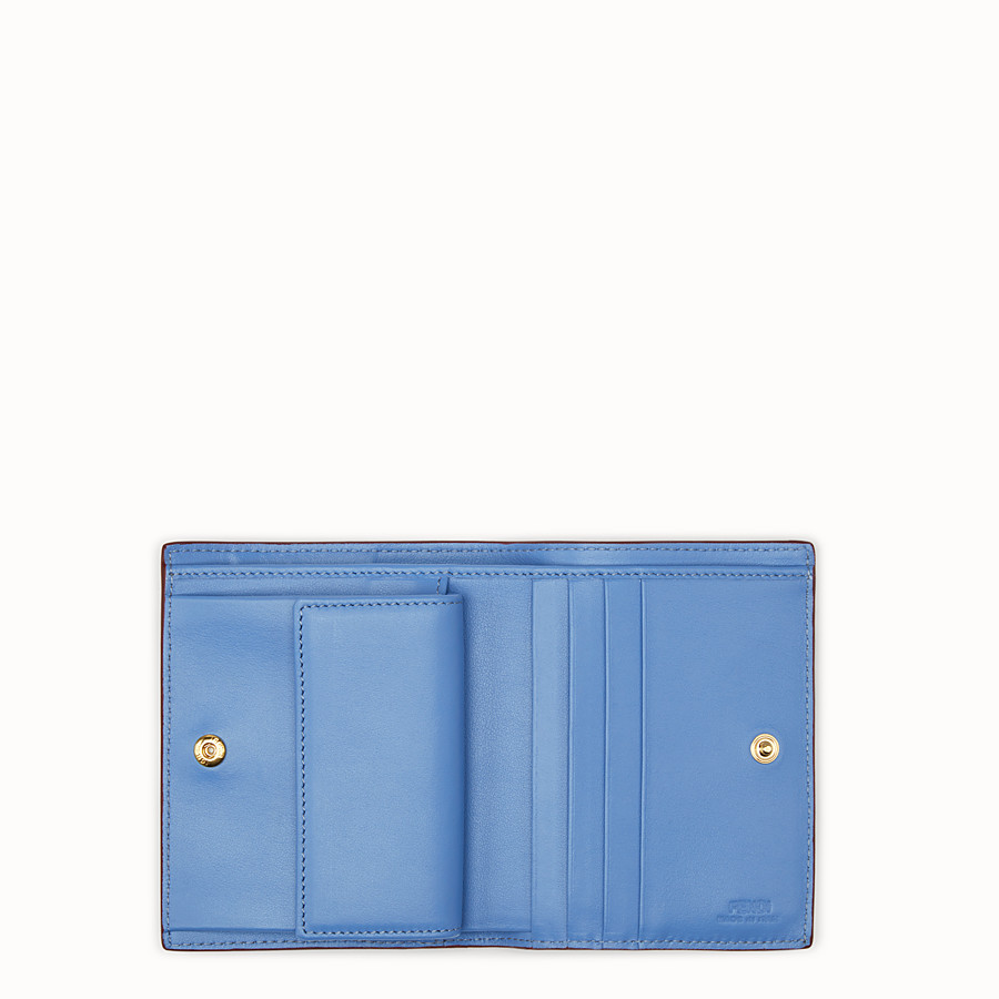 FENDI BIFOLD - Blue compact leather wallet - view 4 detail